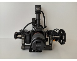 Carbon Gimbal mit Sony Alpha 7 R 36 MP